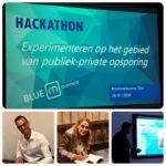 Presentatie BlueM hackathon bij uitreiking boek Anne Faber